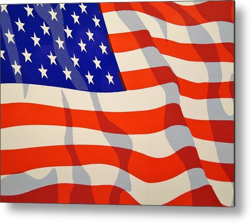 American Flag Metal Print featuring the photograph American Flag by Anthony Schafer