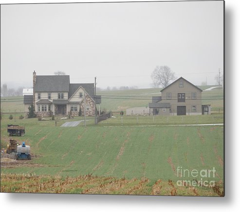 Amish Metal Print featuring the photograph An Amish Family Home by Christine Clark