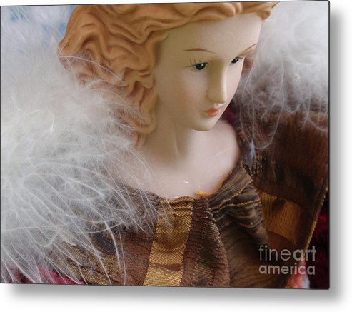 Dolls Metal Print featuring the photograph Angel Doll by Valia Bradshaw