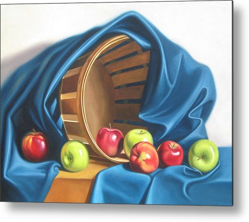 Still Life Metal Print featuring the painting Apple Basket by Arnold Hurley