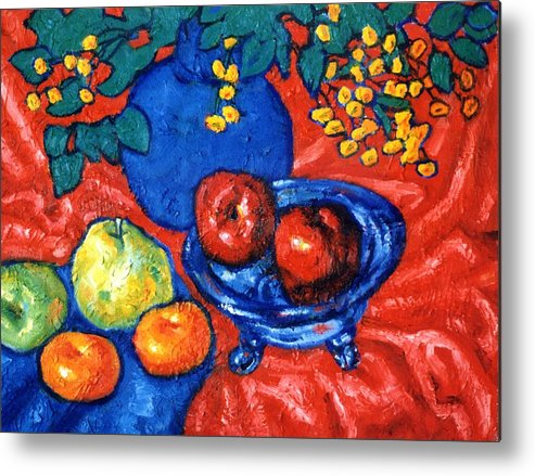 Still Life Metal Print featuring the painting Apples And Pears by Paul Herman