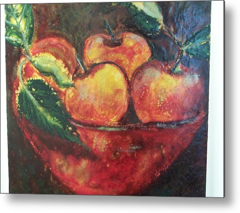 Still Life Metal Print featuring the painting Apples by Karla Phlypo-Price