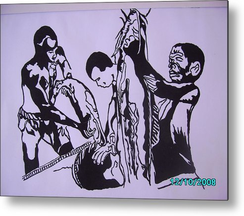 Festival Metal Print featuring the painting Argungun Fish Festival by Olaoluwa Smith