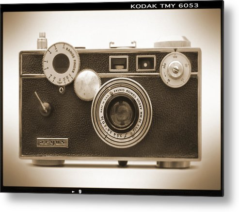 Vintage 35mm Metal Print featuring the photograph Argus - Brick by Mike McGlothlen