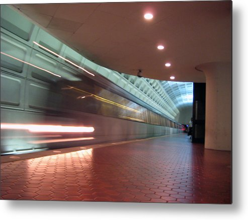 Metro Metal Print featuring the photograph Arriving by Sean Owens