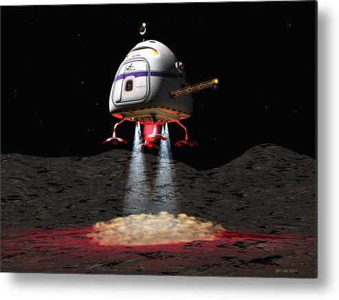 Jim Coe Metal Print featuring the digital art Asteroid Miners Mule by Jim Coe