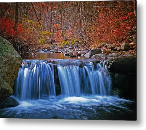 Autumn Metal Print featuring the photograph Autumn Falls by Jim DeLillo