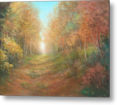 Landscape Metal Print featuring the painting Autumn Majesty by Sally Seago