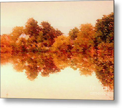 Autumn Metal Print featuring the digital art Autumn Reflections by Michael Canning