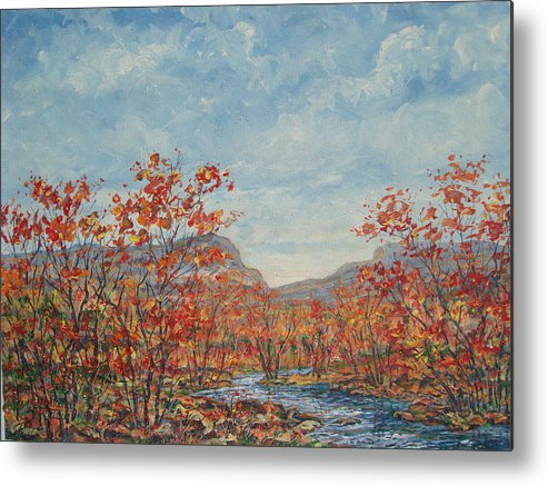 Paintings Metal Print featuring the painting Autumn View. by Leonard Holland