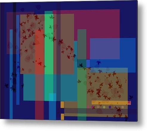 Autumn Metal Print featuring the digital art Autumn Wind by Helene Champaloux-Saraswati