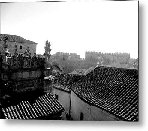 Architecture Metal Print featuring the photograph Avila Rooftops by Halle Treanor