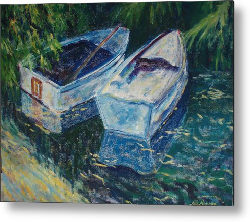 Monets Gardens Metal Print featuring the painting Awaiting by Tara Moorman