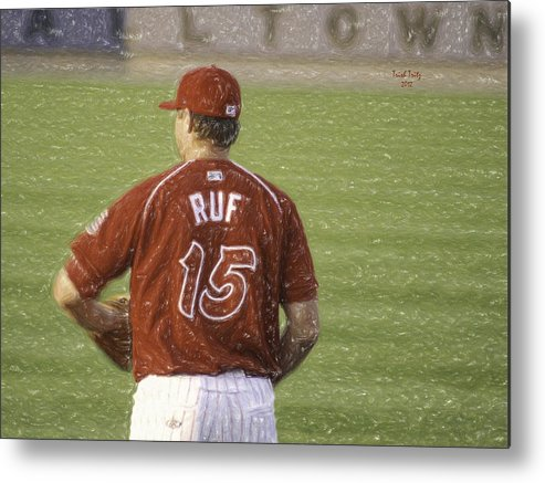 Baseball Metal Print featuring the photograph Babe Ruf by Trish Tritz
