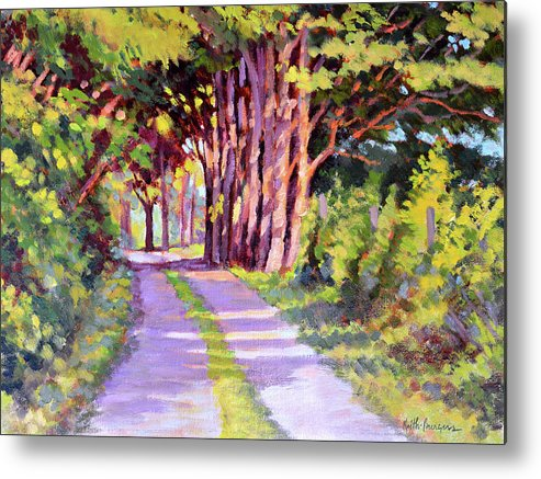 Road Metal Print featuring the painting Backroad Canopy by Keith Burgess