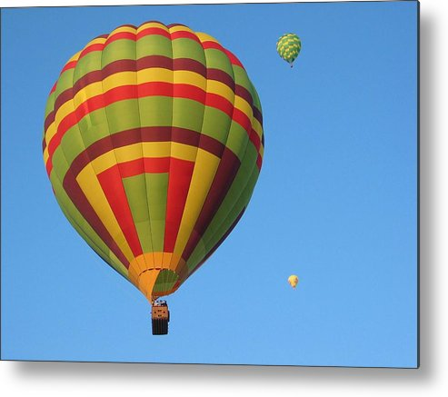 Hot Air Balloons Metal Print featuring the photograph Balloons New Mexico by Margaret Fortunato