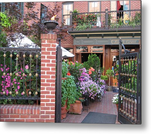 Courtyard Metal Print featuring the photograph Baltimore Cafe     By Jean Carton by Jerrold Carton