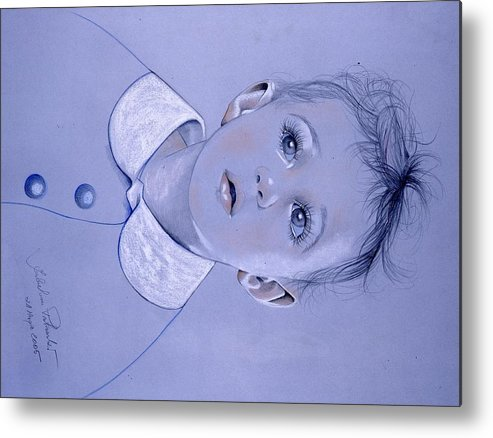 Ritratto Metal Print featuring the painting Bambino by Isabell Von Piotrowski