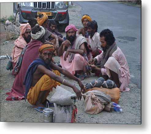 Himalayas Metal Print featuring the photograph Band Of Sadhus by Sonya Ki Tomlinson