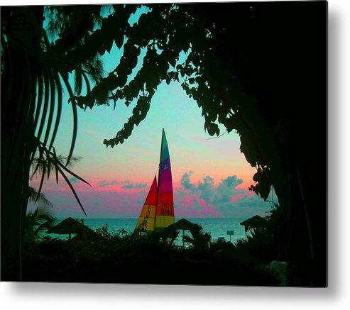 Barbados Metal Print featuring the photograph Barbados In Supercolor by Caroline Urbania Naeem
