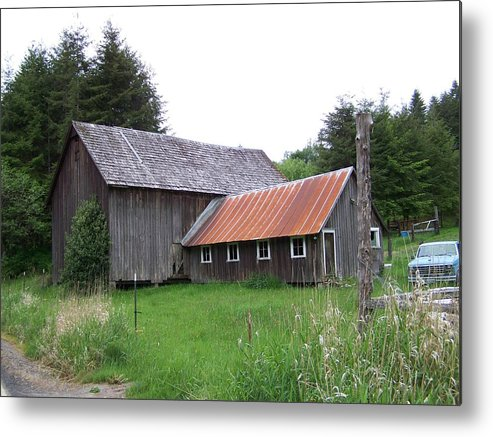 Farm Metal Print featuring the photograph Barn  Washington State by Laurie Kidd