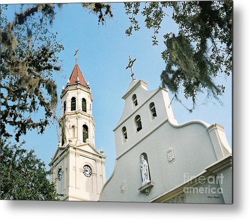 St. Augustine Metal Print featuring the painting Basilica by Addison Fitzgerald