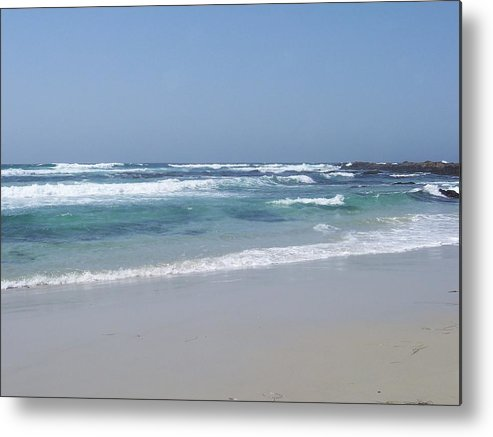 Ocean Metal Print featuring the photograph Beach 1 by Dawn Marie Black