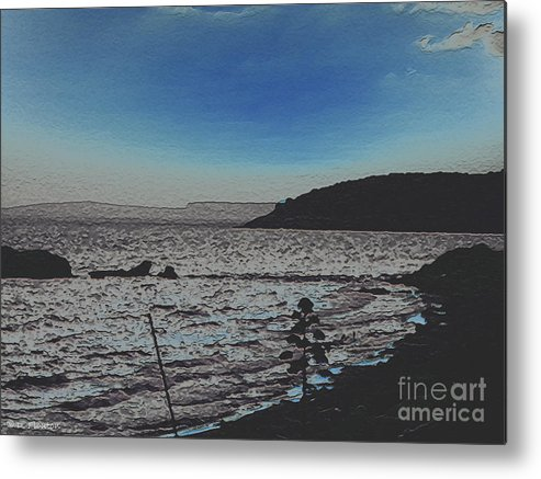 Beach Metal Print featuring the photograph Beach At Twilight by Dee Flouton