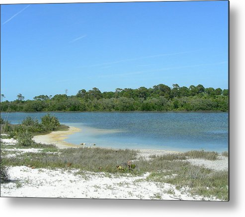 Lake Metal Print featuring the photograph Beach Inland Lake by Peter McIntosh