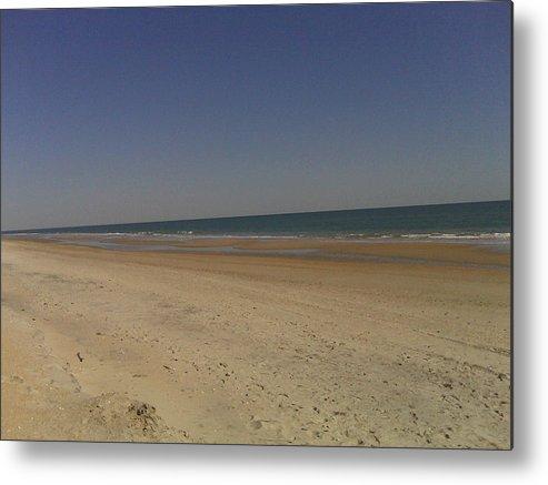 Beach Scenes Metal Print featuring the photograph Beach Solitutde by Al Smith