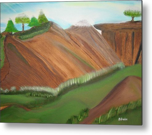 Landscapes Metal Print featuring the painting Beaulah Land by Edwin Long