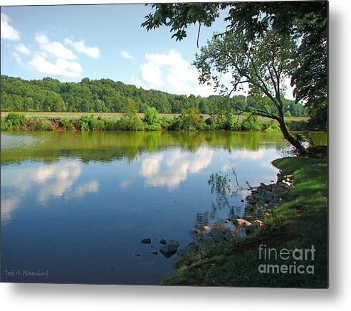 Landscape Metal Print featuring the photograph Beautiful Blue Water by Todd Blanchard