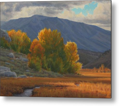 Auntumn Metal Print featuring the painting Before The Snow by Joe Mancuso