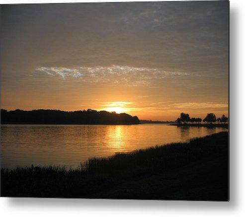 Sunrise-sunset Photographs Metal Print featuring the photograph Beginning Light by Frederic Kohli