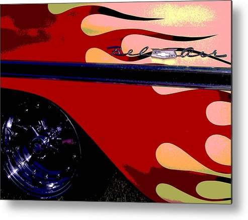 Car Metal Print featuring the photograph Bel Air by Audrey Venute