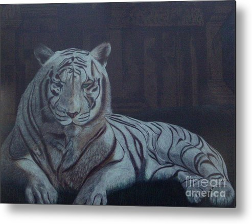 Wild Live Metal Print featuring the painting Bengala Tiger by Fanny Diaz