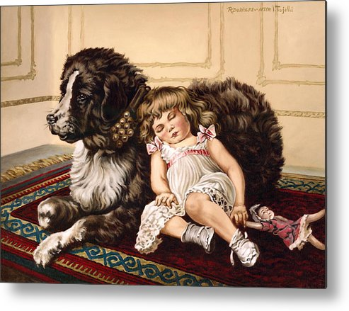 Victorian Metal Print featuring the painting Best Friends by Richard De Wolfe