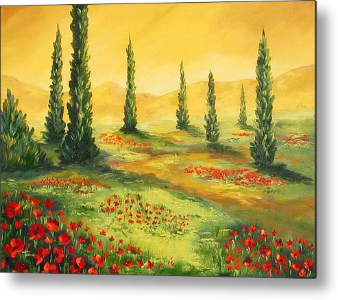 Tuscan Metal Print featuring the painting Beyond The Tuscan Sun by Torrie Smiley