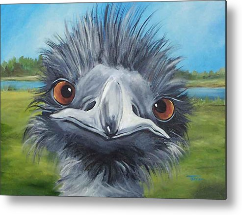 Emu Metal Print featuring the painting Big Bird - 2007 by Torrie Smiley