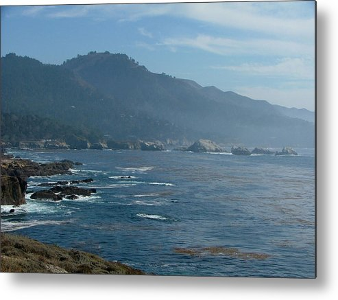 Seascape Metal Print featuring the photograph Big Sur by Donna Thomas