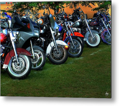 Motorcycle Metal Print featuring the photograph Big Wheels At Laconia by Wayne King