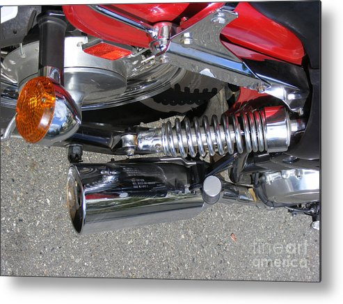Bike Metal Print featuring the photograph Bike Parts 05 by Attila Jacob Ferenczi