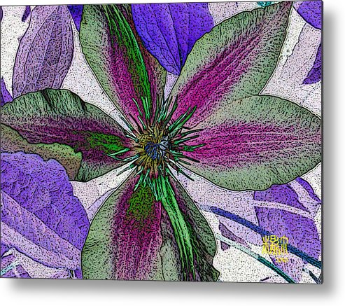 Flowers Metal Print featuring the digital art Bliss by Michele Caporaso