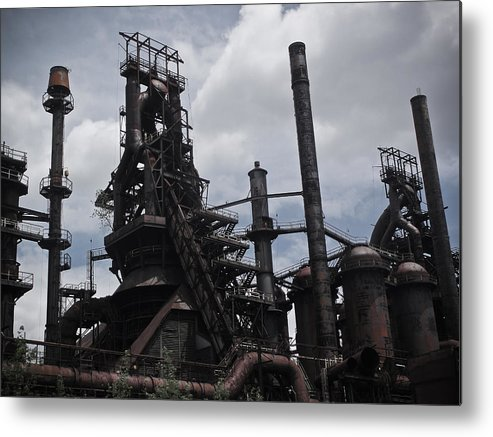 Industry Metal Print featuring the photograph Blood And Steel I by Brandon Wunder