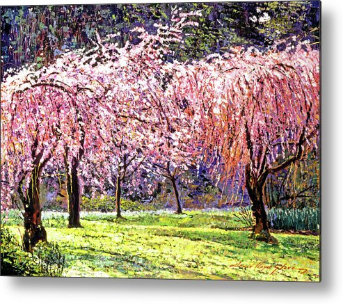 Cherry Blossoms Metal Print featuring the painting Blossom Fantasy by David Lloyd Glover