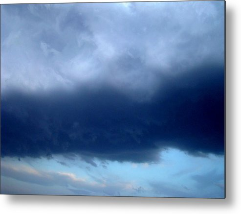 Blue Metal Print featuring the photograph Blue Clouds One by Ana Villaronga