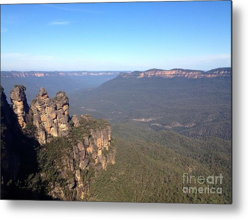 Three Sisters Metal Print featuring the photograph Blue Mountains Australia by Nathalie Laurent-Marke