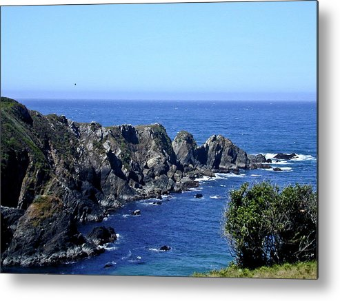 Blue Metal Print featuring the photograph Blue Pacific by Douglas Barnett