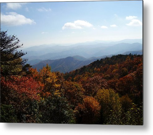 Blue Ridge Mountains Metal Print featuring the photograph Blue Ridge Mountains by Flavia Westerwelle