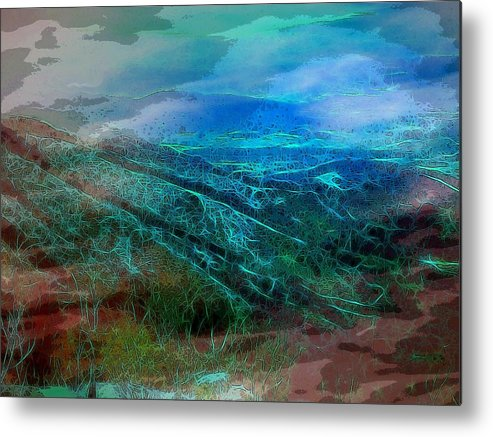 Blue Ridge Mountains Virginia Usa Shenandoah Valley Landscape Panorama Metal Print featuring the digital art Blue Ridge Mountains by Susan Epps Oliver